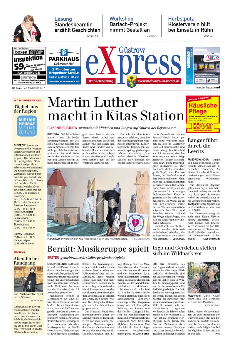 Diakonie Güstrow Küche   Gustrow Express 22 11 2017